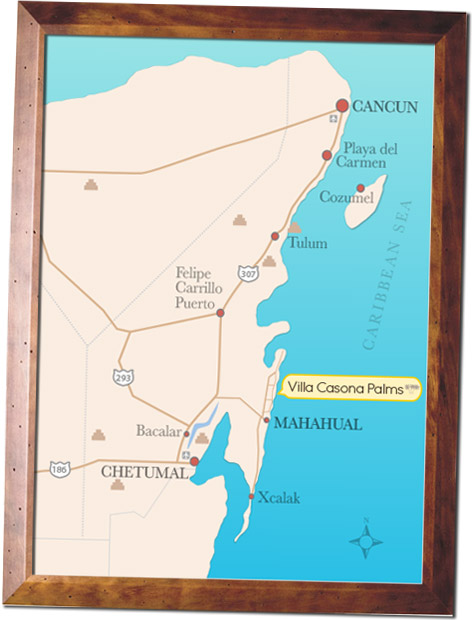 How To Get To Villa Casona Palms Mahahual Costa Maya Mexico
